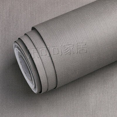60CM wide wallpaper self-adhesive 10 meters solid color gray white Boeing film furniture renovation stickers frosted waterproof