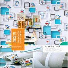 Load image into Gallery viewer, New pvc self-adhesive wallpaper wall sticker children's room girl bedroom study 3d stereo wall TV background sticker cartoon