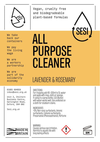 All Purpose Cleaner Lavender and Rosemary