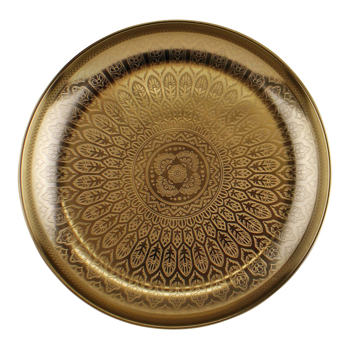 Kasbah Design Decorative Gold Metal Tray Homeaesthetics Uk