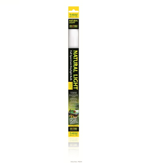 "Exo Terra Exo Terra Fluorescent Bulb Natural Light Tube 14w 15"" - Reptiles UK"
