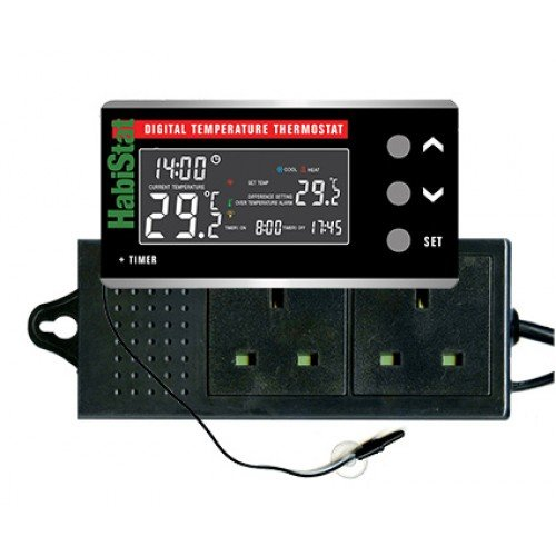 Habistat HabiStat Digital Temperature Thermostat + Timer - Reptiles UK