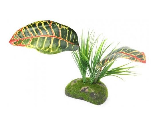 pro rep ProRep Artificial Tropical Croton Plant - Reptiles UK