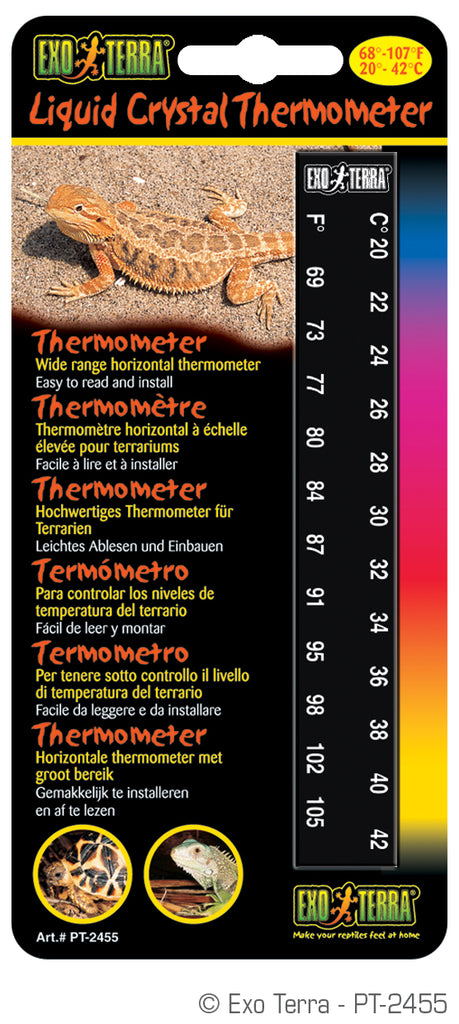 Exo Terra Liquid Crystal Thermometer - Reptiles UK