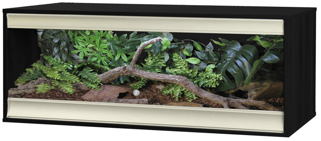 VivExotic Viva+ Terrestrial Vivarium Large Black - Reptiles UK