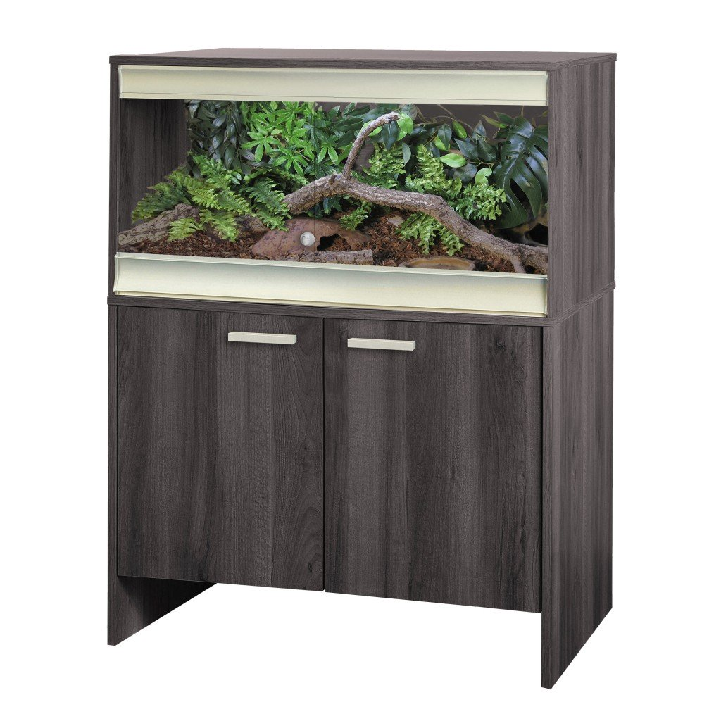 VivExotic VivExotic Viva+ Medium Vivarium with Cabinet Grey - Reptiles UK