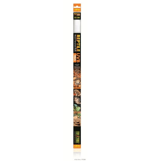 "Exo Terra Exo Terra Fluorescent Bulb UVB 150 Light Tube 18w 24"" - Reptiles UK"