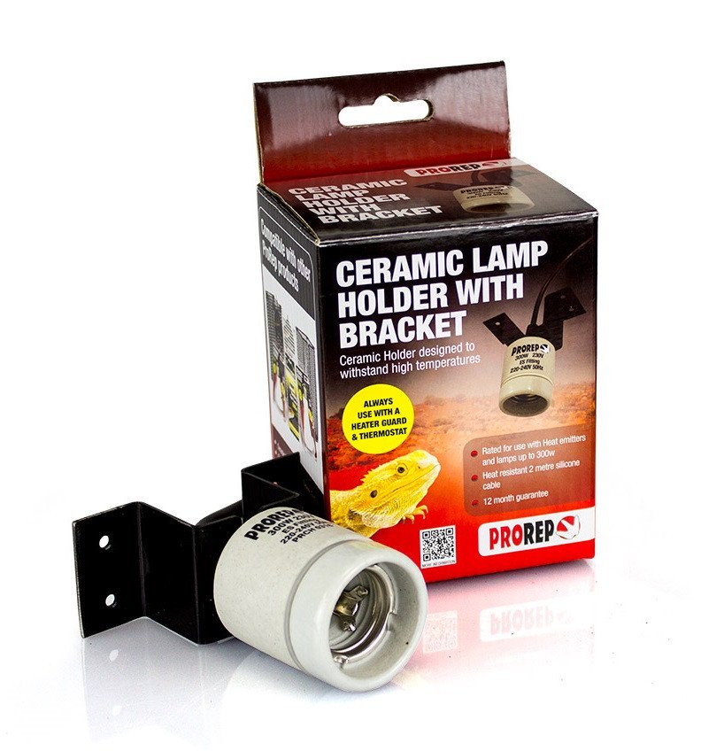 pro rep ProRep Ceramic Lamp Holder with Bracket - Reptiles UK
