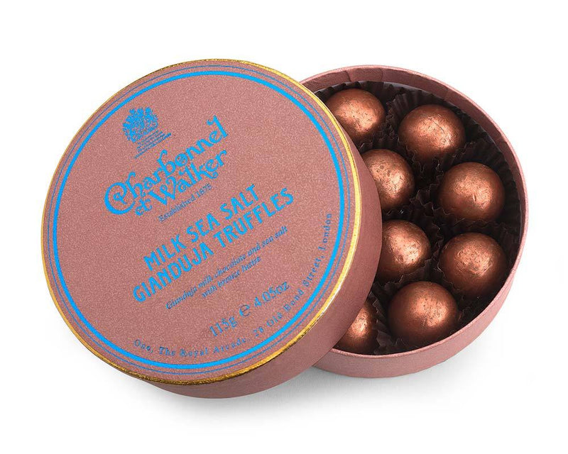 Milk Sea Salt Gianduja Chocolate Truffles