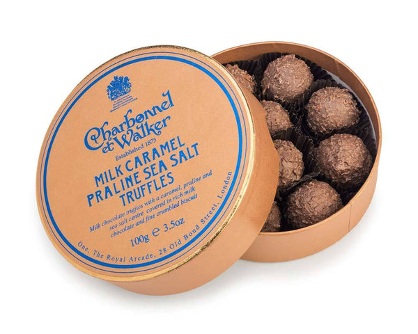 Milk Sea Salt Caramel Praline Chocolate Truffles
