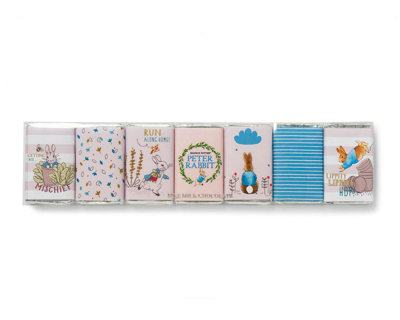 Peter Rabbit Seven Piece Mini Chocolate Bar Set Blue