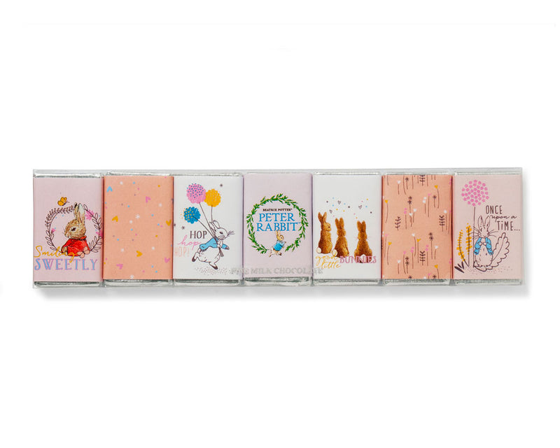 Peter Rabbit Seven Piece Mini Chocolate Bar Set Pink