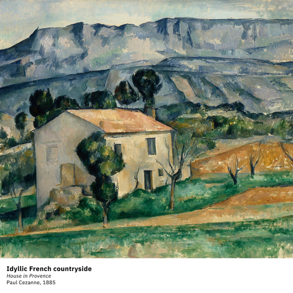 French countryside by Cezanne