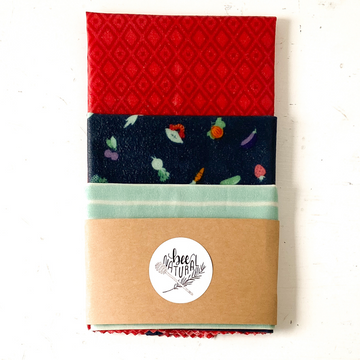 Bee Natural & Co. Reusable Wraps - Market Medley (3-Pack)
