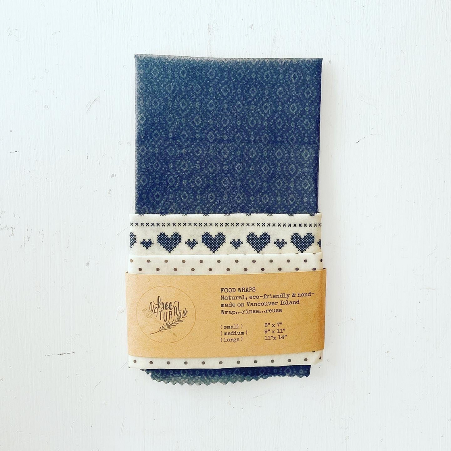Bee Natural & Co. Reusable Wraps - Embroidered Love (3-Pack)