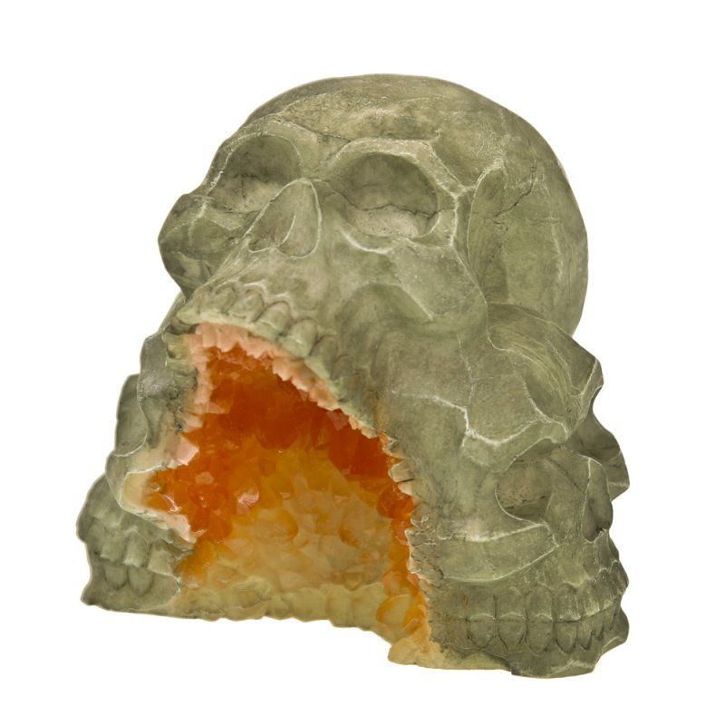 Exotic Environments Skull Mountain Geode Stone Aquarium Ornament