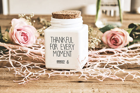 "SOJA GEURKAARS ""THANKFUL FOR EVERY MOMENT"" IN DE GEUR ""FRESH COTTON"""