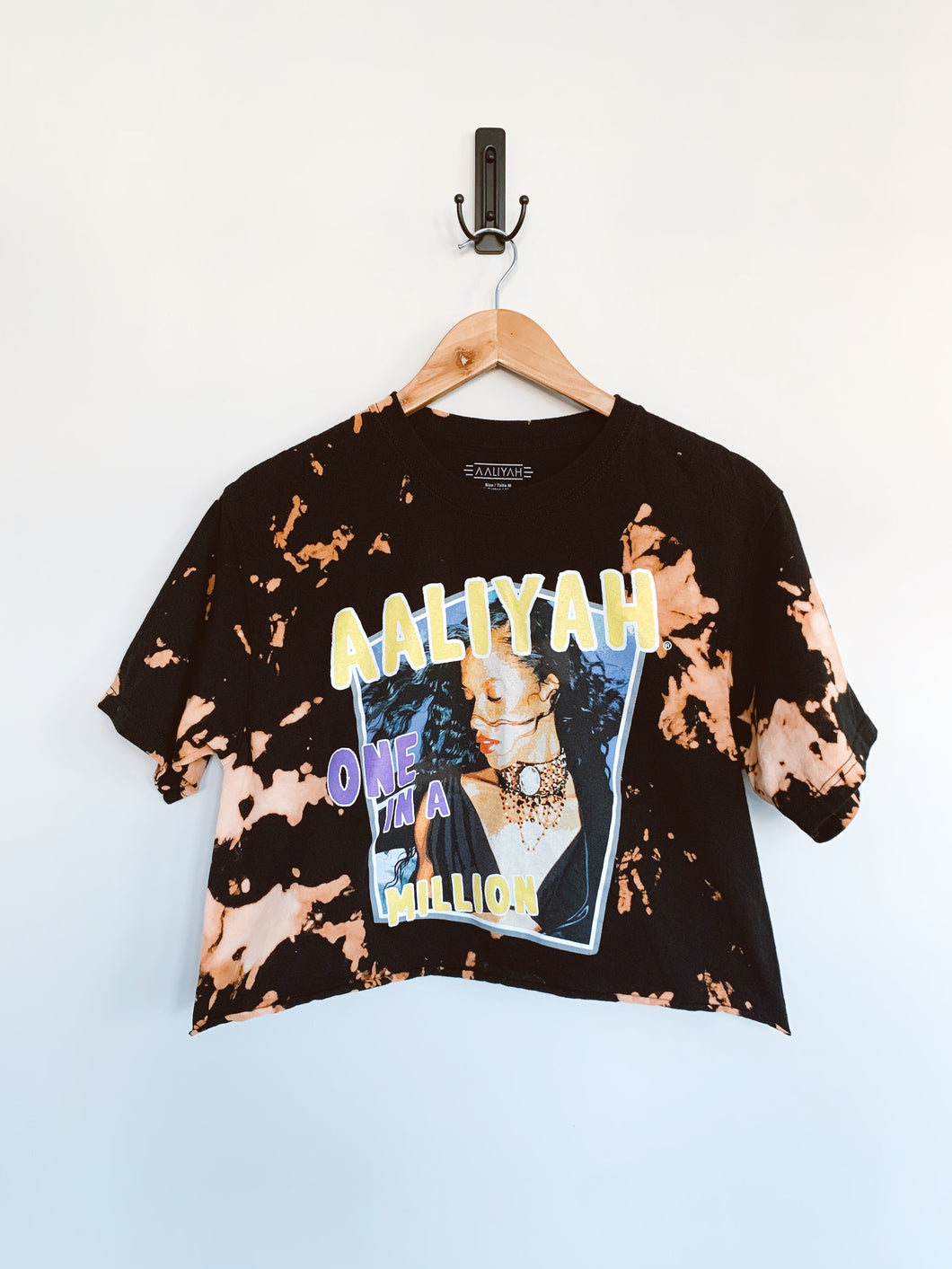 Aaliyah I Miss You Cropped Tee