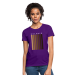 Load image into Gallery viewer, Melanin - Your Black is Beautiful Women's T-Shirt - purple