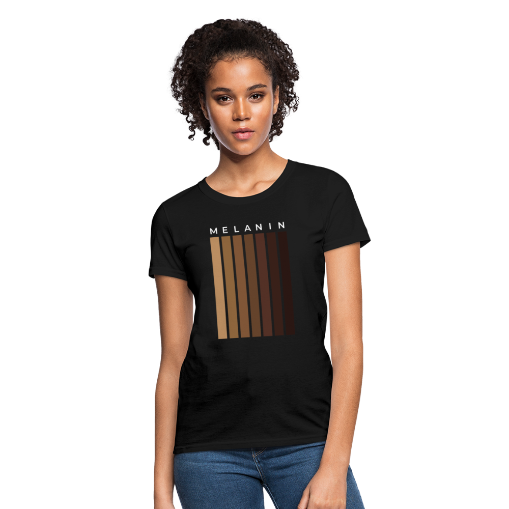 Melanin - Your Black is Beautiful Women's T-Shirt - black
