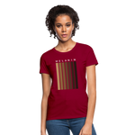 Load image into Gallery viewer, Melanin - Your Black is Beautiful Women's T-Shirt - dark red