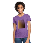 Load image into Gallery viewer, Melanin - Your Black is Beautiful Women's T-Shirt - purple heather
