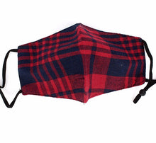 Load image into Gallery viewer, Red & Navy Highland Plaid