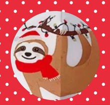 Load image into Gallery viewer, Christmas Sloth Face Mask
