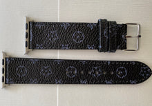 Load image into Gallery viewer, Luxury Watch Band in Black & Gray Floral Print