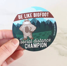 Load image into Gallery viewer, Bigfoot Social Distancing Expert Stickers & Pins