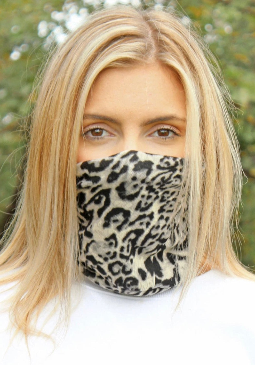Leopard Double Layer Twisted Gaiter