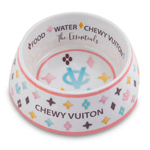 Load image into Gallery viewer, Chewy Vuiton Dog Bowl - White