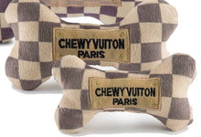 Load image into Gallery viewer, Chewy Vuiton Check Chew Toy Bones