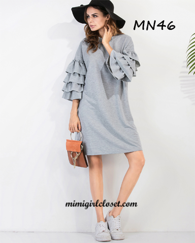 Ruffle Sleeve Tee Dress
