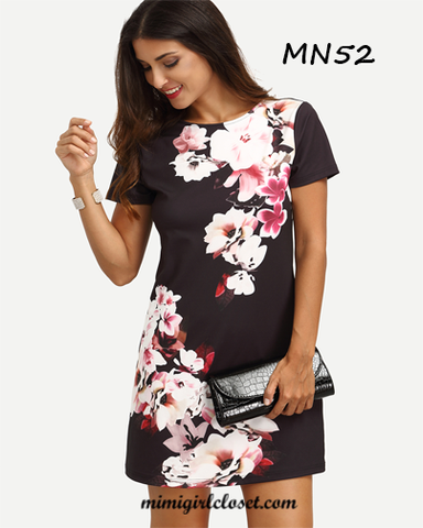 Multicolor Floral Mini Dress