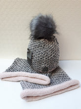 Load image into Gallery viewer, Pom Pom Hat & Snood Set