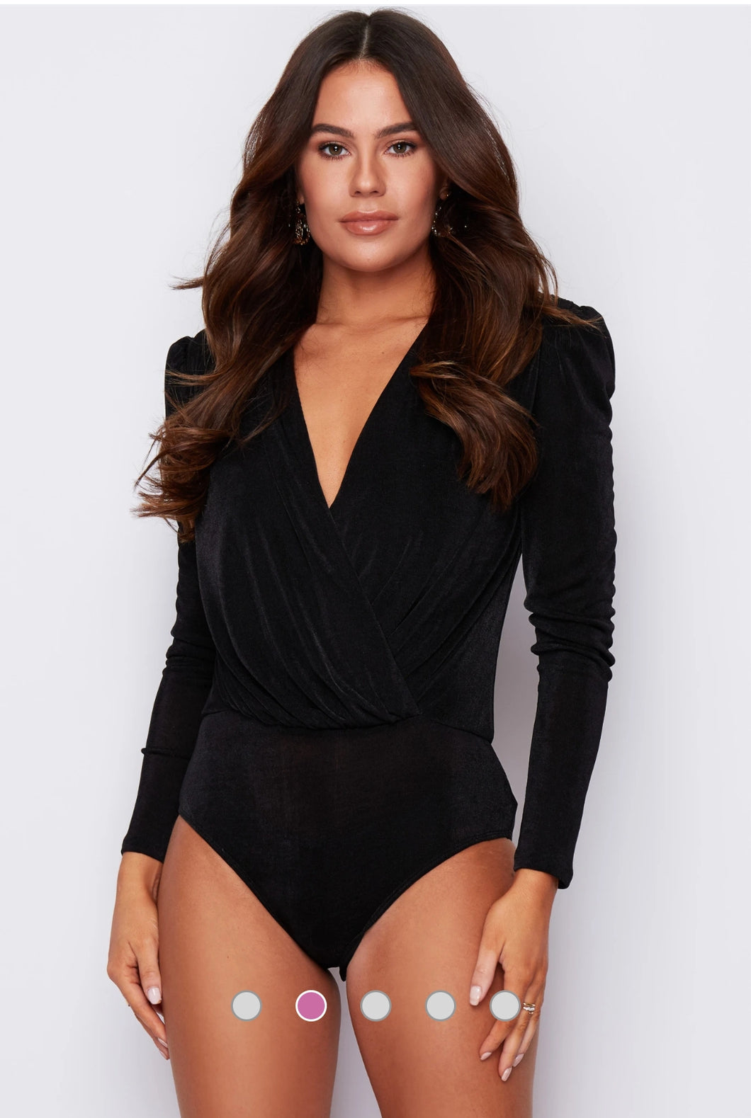 Amara Wrap Bodysuit  Black