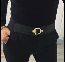 Load image into Gallery viewer, Gold Buckle Stretch Belt