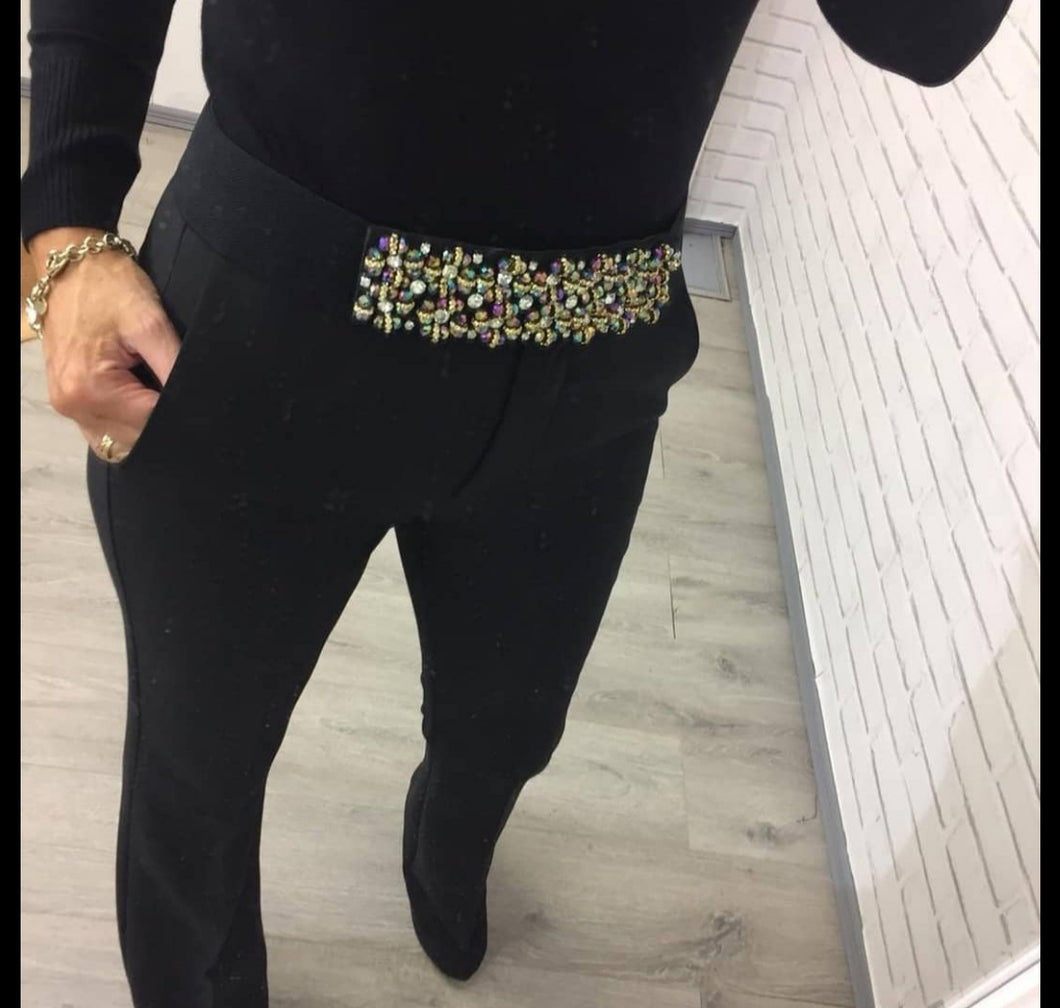 Jewel Look Stretch Belt