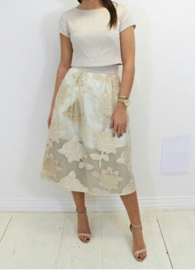 Fee G  Oyster & Gold Skirt
