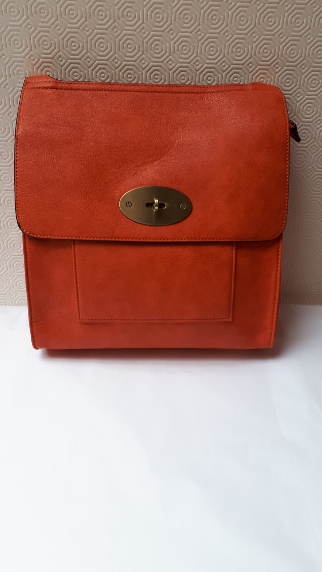 Cross Body Bag Satchel /  Orange