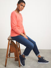 Load image into Gallery viewer, Lola Crew Neck Cardigan - Mid Coral