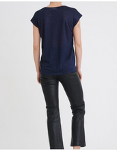 Load image into Gallery viewer, Faylinn O Neck- Navy Blue T Shirt