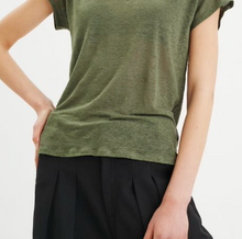 Load image into Gallery viewer, Faylinn O Neck- Green T Shirt