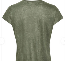 Load image into Gallery viewer, Faylinn V Neck - Green T Shirt
