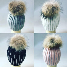 Load image into Gallery viewer, Fur Pom Pom Hat