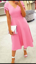 Load image into Gallery viewer, Fee G  Pink Dress ( A-line )