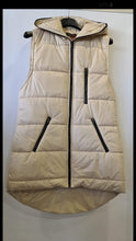 Load image into Gallery viewer, Ava Sleevless Gilet with Hood-Cream