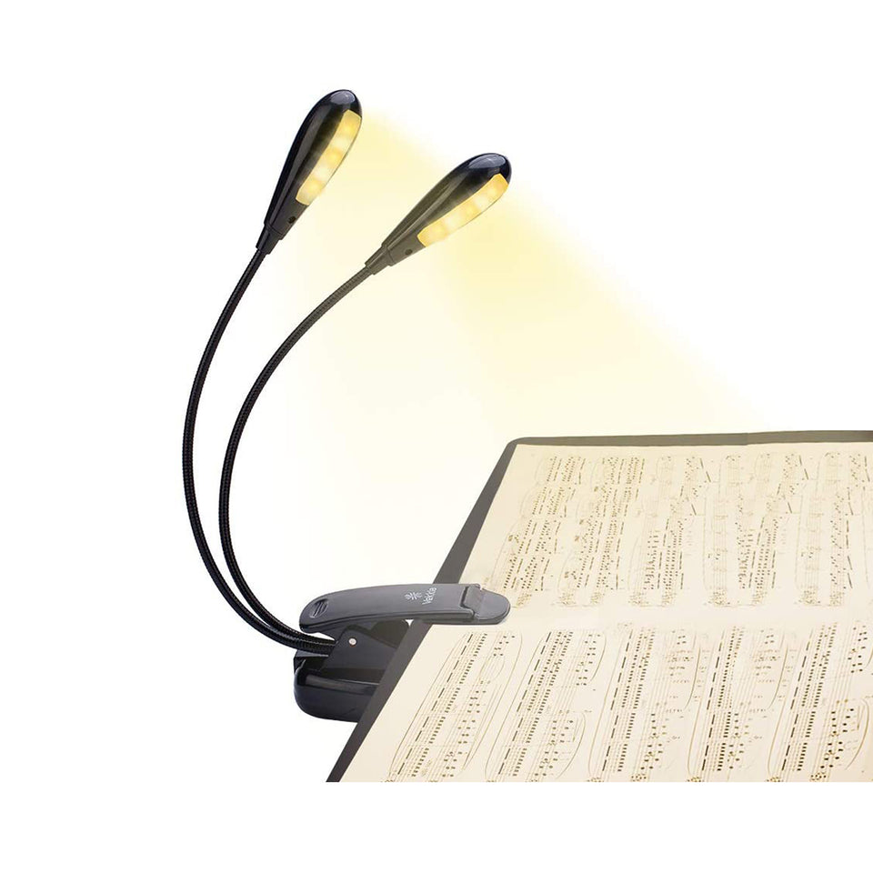 Double Lamp Holder 10 LED Music Stand Light