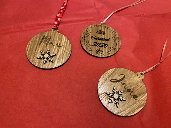 Wooden Name Tree Decoration
